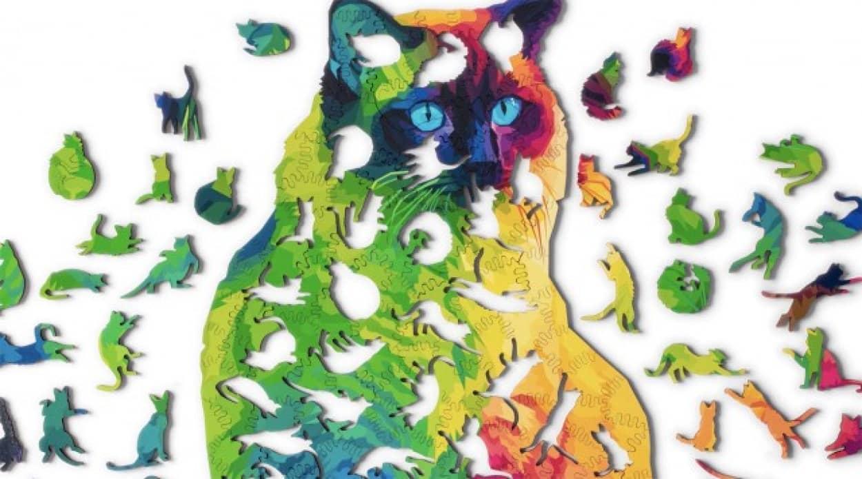 猫づくしな猫型ジグソーパズル
