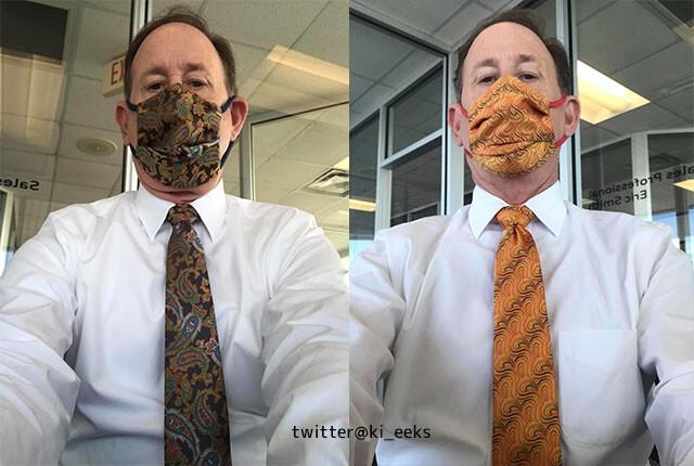 できる男のマスクとネクタイのコーデ術