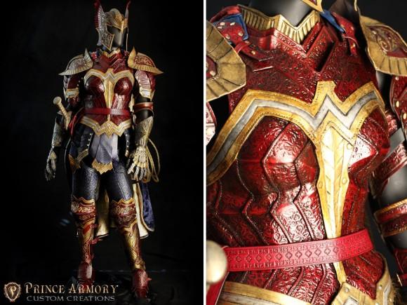 中世ファンタジー風に女戦士の鎧を革でハンドメイド「ワンダーウーマンバトルアーマー」