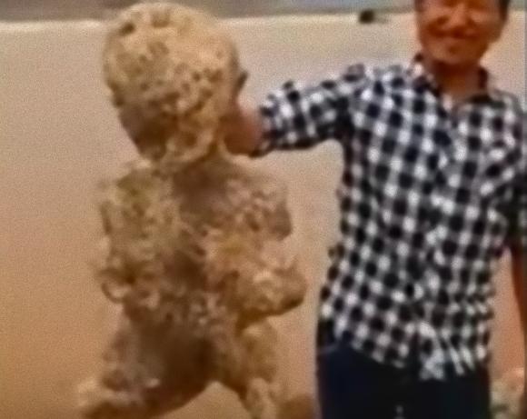 これなんてエイリアン?中国の海岸で発見された、ピクンピクンとかすかに動く人型の物体の正体は?