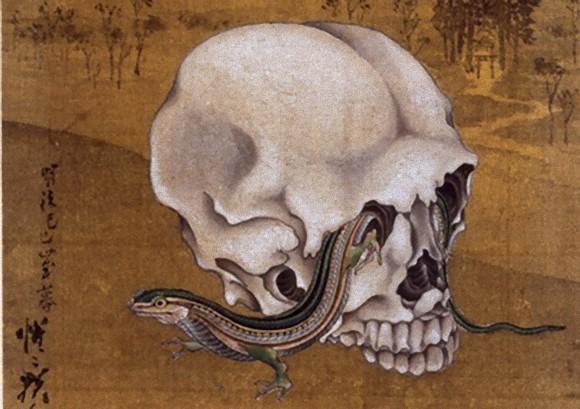 浮世絵・日本画に描かれた骸骨(ドクロ)