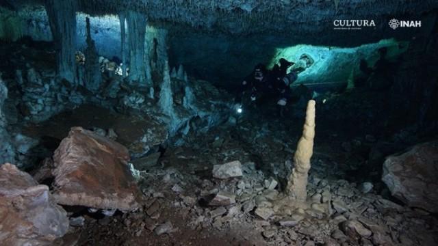 水中洞窟で1万2000年前の鉱山発見