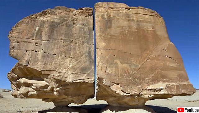 オーパーツ疑惑すら浮上した精巧に分断されたサウジアラビアの巨石の謎、自然現象である可能性
