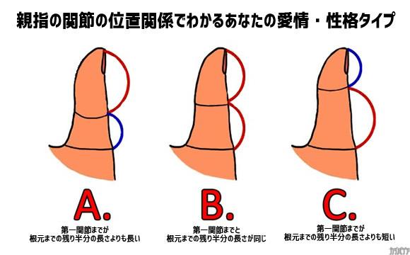 海外で流行ってる親指占い:親指の関節の位置でわかるあなたの愛情・性格タイプ