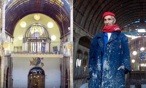 病気を克服した男性。神との約束を果たすために50年間こつこつと大聖堂を建て続ける。91歳になった今、完成間近