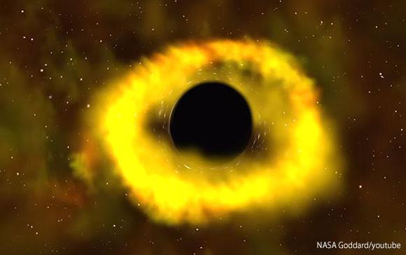 星をズタズタに引き裂くブラックホールの不気味な姿が観測される(NASA)