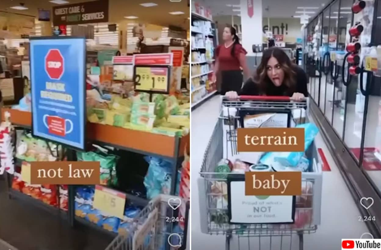 アメリカのスーパーで様々なものを舐めまわす女性が出現