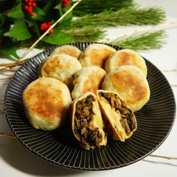 クレープミックス粉とフライパンで簡単うまい!長野名物風「野沢菜おやき」の作り方【ネトメシ】
