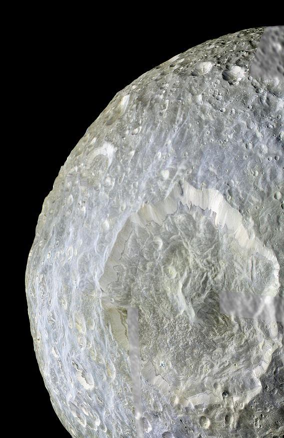 Herschel-Crater-on-Mimas-of-Saturn