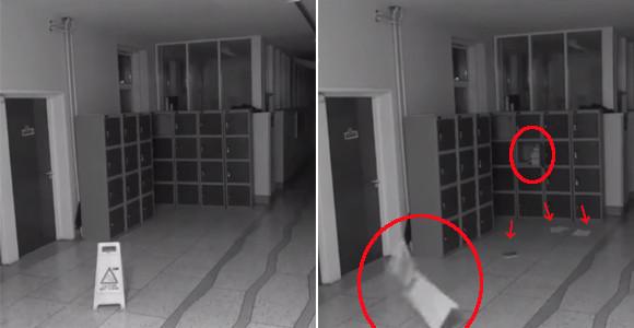 学校にいるのはトイレの花子さんだけではない。アイルランドの学校内で深夜に撮影された破天荒なポルターガイスト現象