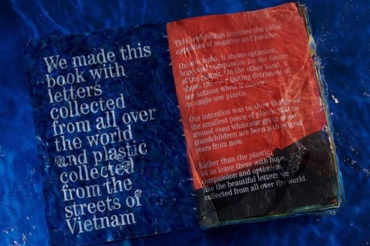 1000年後の未来人の為に廃棄プラスチックで作成された「1000年続く本」