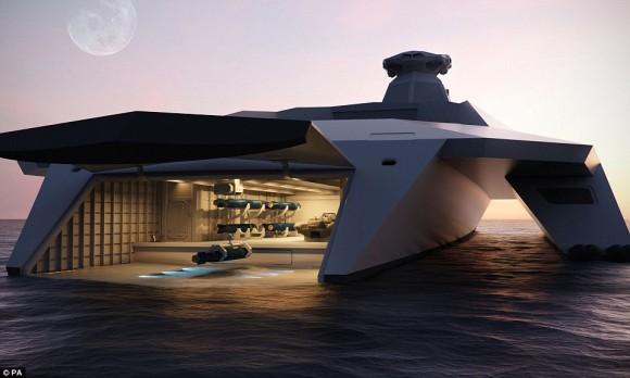 英海軍の近未来型軍艦がSFじみていた!宇宙時代的な管制室やシースルーの船体を備え、わずか50名で航行可能「ドレッドノート2050」(イギリス)