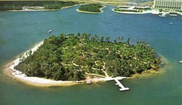 南国の楽園と勘違いして不法侵入したというディズニー島は1999年に閉鎖された廃墟島だった。その内部を公開