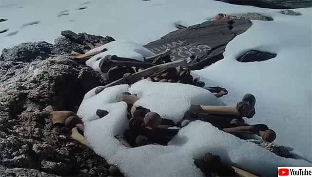 無数の人骨が散らばるヒマラヤの湖、ループクンド湖の謎