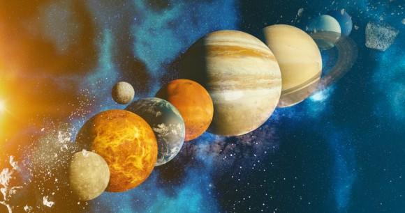 木星速ッ!太陽系内惑星10の自転速度を比較した爽快アニメーション