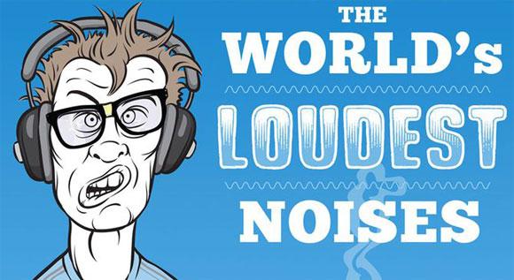 世界最大の騒音を聴いてみよう!最大から最小まで36の騒音が聴ける「オーディオ・インフォグラフィック」