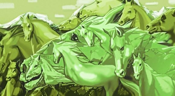 この絵の中に馬が何頭見える?見えた数でわかるあなたの性格(占い・心理テスト)
