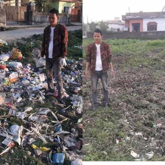海外のSNSで広がりを見せているチャレンジ。自発的にゴミ拾いをし、ビフォア・アフターを投稿する「#trashtag」