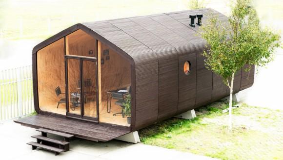 たった1日で建つのに100年持つ。どんな天候にも耐えられるダンボールでできた家