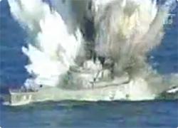 動画】軍艦を一瞬にして撃沈。魚...