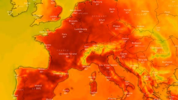 ヨーロッパを襲った強烈な熱波。ドイツ、ベルギー、オランダで史上最高気温が記録される