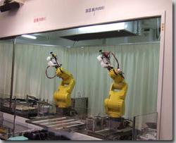ロボットたちがラーメンを作って...