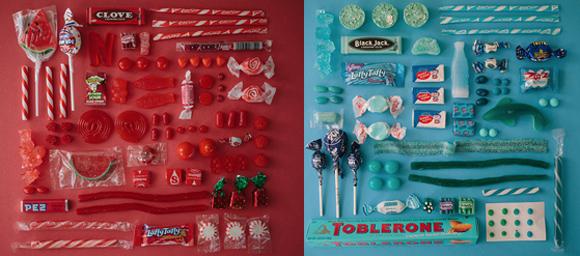 カラフルポップな全10色!アメリカのお菓子を色別に並べてみた