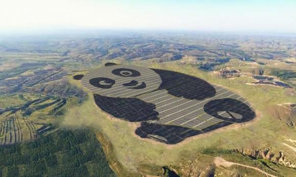 パンダ推しなのは知ってたけどもそれも?ナスカの地上絵みたいなことになってる「パンダ太陽光発電所」が中国で建設中