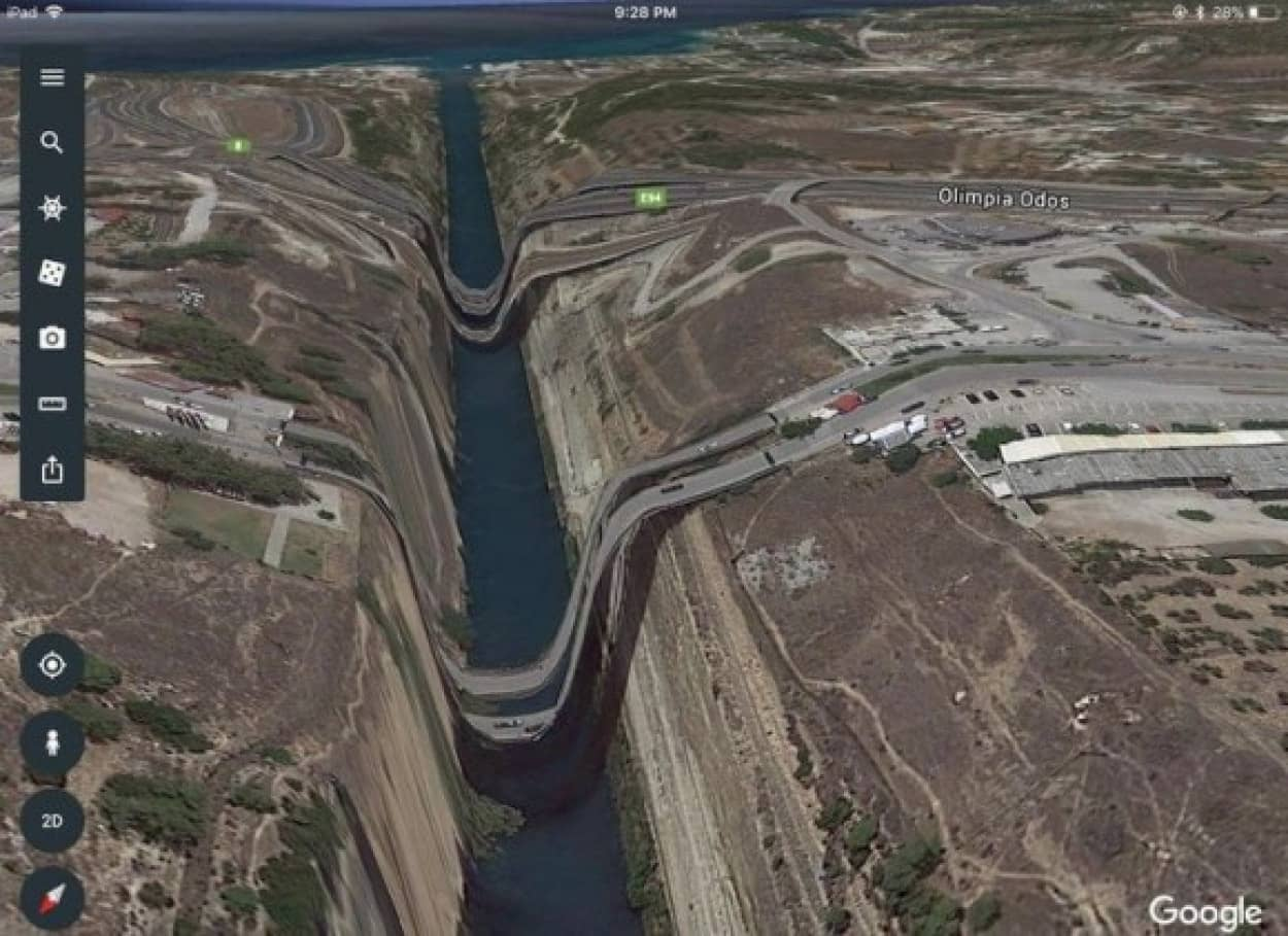 グーグルマップで発見した驚きの光景