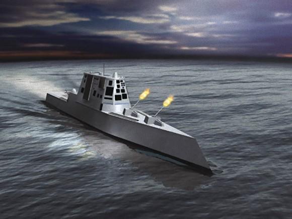 仮にファンタ大将の提案が通った場合、USSリンドン・B・ジョンソンが搭載を予定する155mm単装砲の1つはレールガンに換装される。
