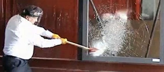 強化 ガラス 割り方