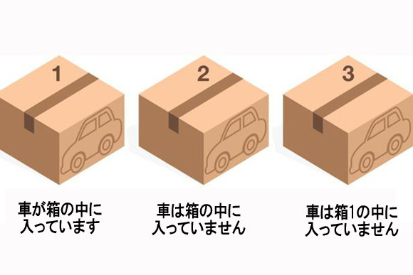 正答率37%の問題にチャレンジ!「車はどの箱に入っているのでしょうか?」