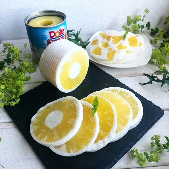 パイナップルの缶詰を丸ごとデザートに!缶詰もそのまま使うミルク杏仁味のまるごと缶詰寒天の作り方【ネトメシ】