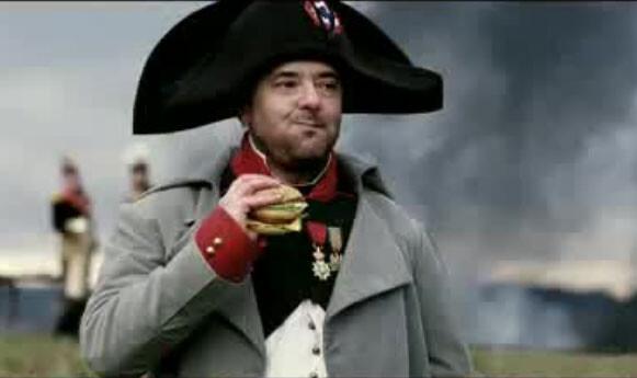 ナポレオンがモチーフの広告