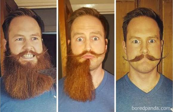 ヒゲの有無でどこまで変わる?男性のヒゲ剃りビフォア・アフター比較画像