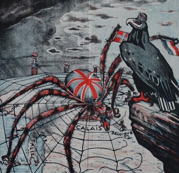 第一次世界大戦のプロパガンダに使われた世界地図モチーフの愛国記念品