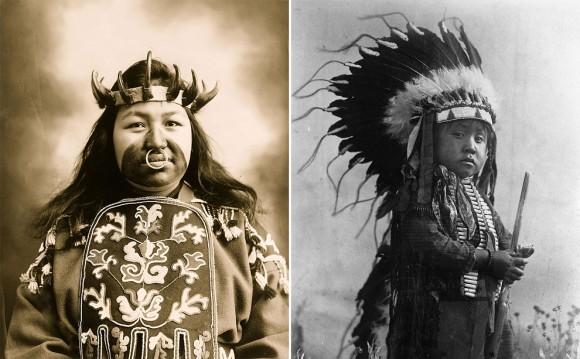 1900年代に撮影された、アメリカ先住民(ネイティブ・アメリカン)の写真