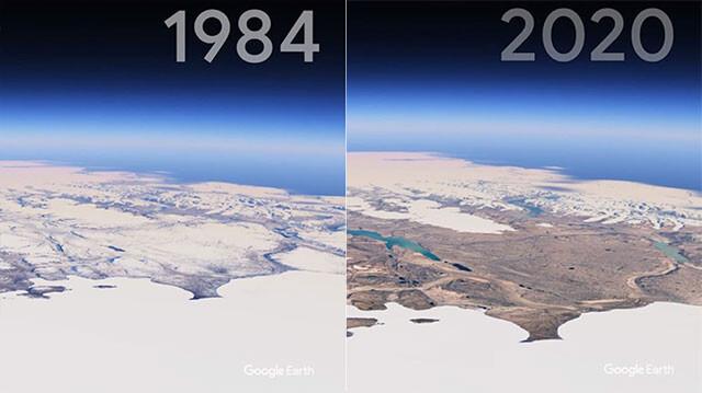 過去37年の地球の変化をとらえたグーグルアースの衛星画像ビフォア・アフターno title