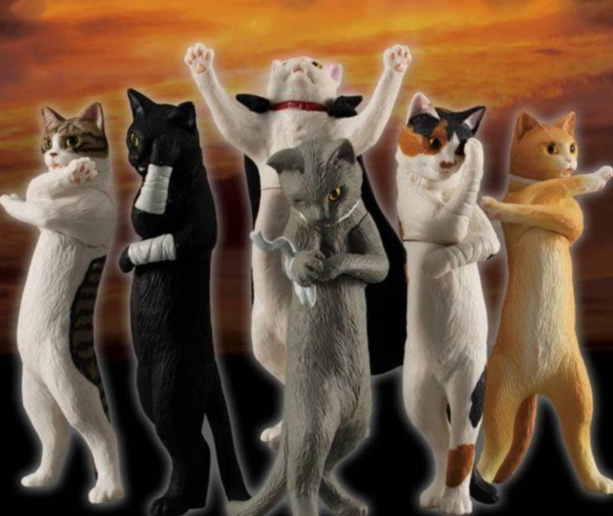 中二病の猫がフィギュアとなった「厨二猫(ちゅうにびょう)」カプセルトイ