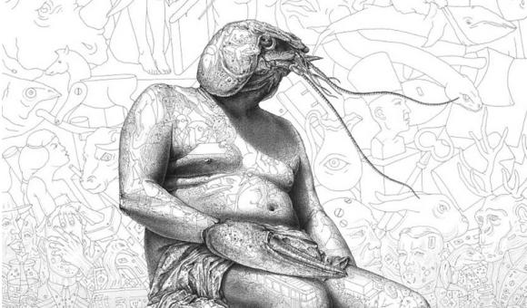 こういうの好き!数百もの細かいイラストを重ね合わせて立体的な絵を作る細密ペン画の奥深い世界 : カラパイア