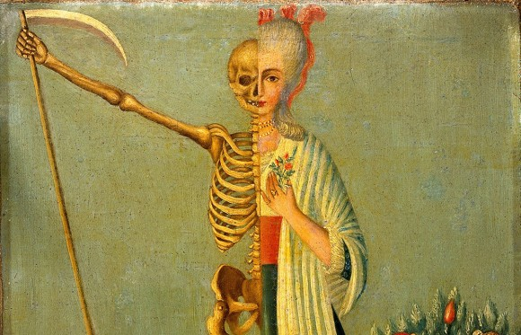 死は誰にでも必ず訪れる。メメント・モリを継承し、死のイメージとともに生を謳歌する生き方を描いた美術作品