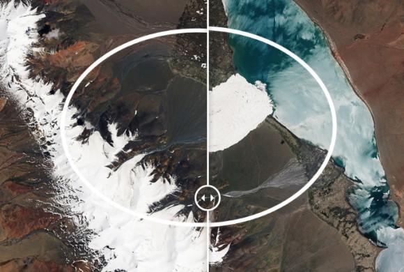 溶ける氷河から人口爆発まで、NASAが公開した地球の変動がよく分かるビフォア・アフター衛星画像