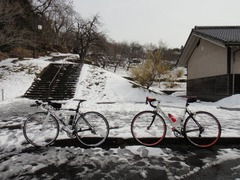 9吉野梅園雪2