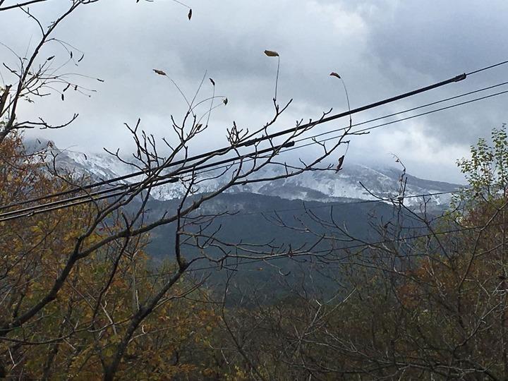 磐梯山雪化粧