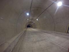 桧原湖一周サイクリング 桧原トンネル