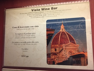 Hotel Laurus al DuomoのVista Wine Barでの食事