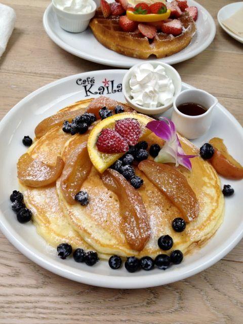 表参道 Cafe Kailaでパンケーキ