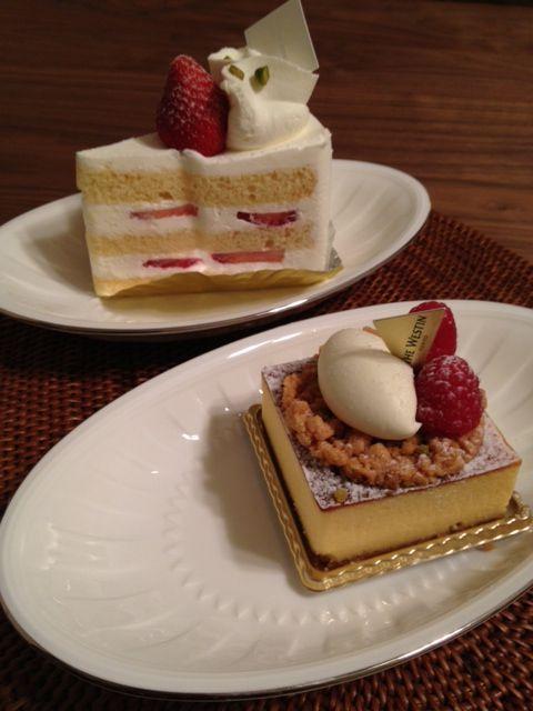 恵比寿 Westin Deliのケーキでお祝い