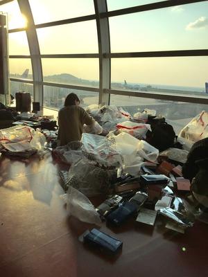 帰りの空港で大陸の凄さを目の当たりにする