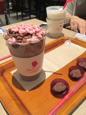 丸の内 Mary's Cafeのアイス チョコレートドリンク